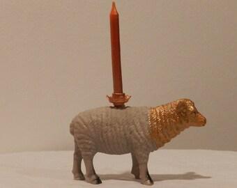 christmas sheep candle