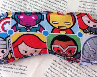 Rice Eye Mask - Avengers Pattern