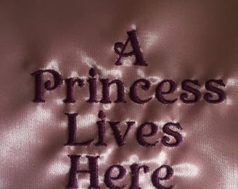 A princess lives here framed quote