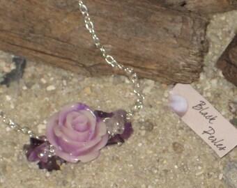 Bracelet resine purple rose
