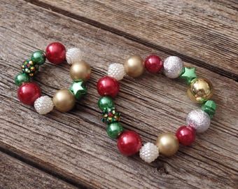 Doll and Me Christmas Stretch Bracelet