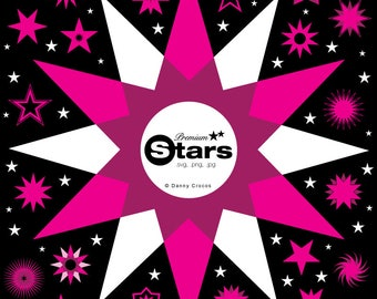Premium Stars Clipart & Papers. svg, png, dxf, jpg. Cuttable design