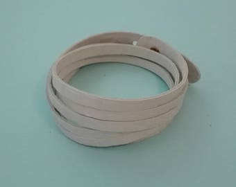 Double leather bracelets