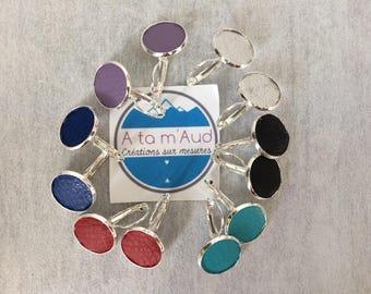 Earring sleeper leather 18 mm color choice