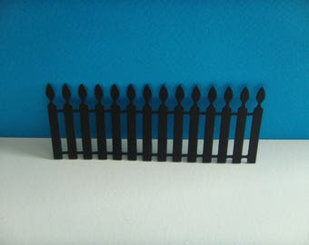 Cut Black Gate for scrapbooking or card