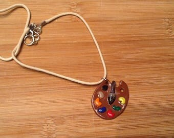 Artist's palette Choker necklace
