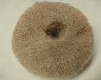wool - Knitting / yarn kid mohair /taupe beige / made in France
