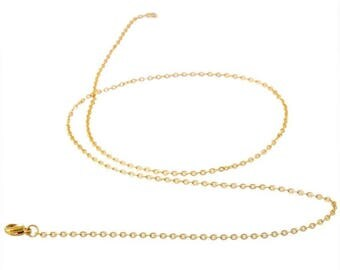 Stainless steel necklace gold 65 cm