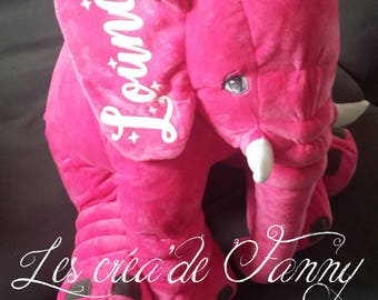 This soft toy fuschia birthstone personalized