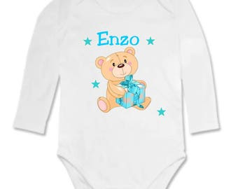 Gift personalized with name and baby bear Bodysuit