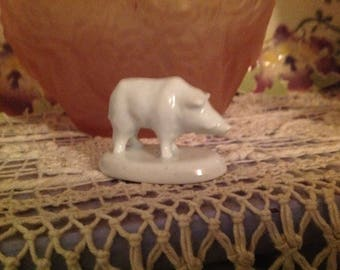 White porcelain, vintage late 20 century object