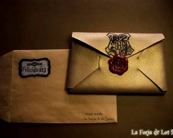 Wallet Harry Potter Hogwarts acceptance letter, wallet / purse letter of acceptance to Hogwarts, custom