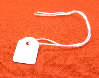 Price tag, white, cardstock, cotton cord, 20mm