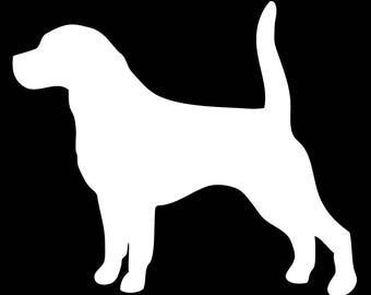Beagle Silhouette Vinyl Decal