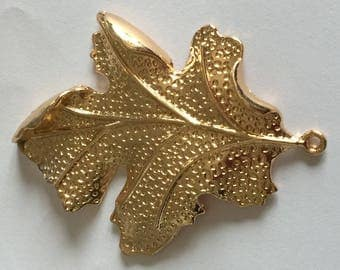 Golden metal leaf