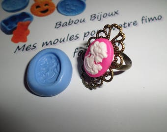 Mold cameo girl to mold your fimo 2cm