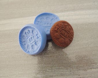 Mold oreo cookie gourmet for fimo silicone 2.5 cm