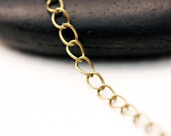 Set of 5 meters of finish 5x3mm BRONZE chain