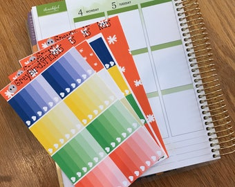 Tis The Season Weekly Sticker Kit for Vertical Erin Condren Life Planners, Happy Planner, Plum Paper Planner and More!