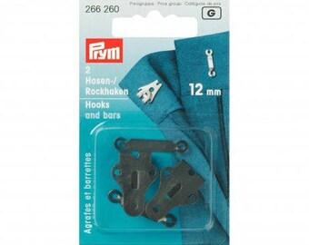2 Staples flat skirt size 12 mm black steel Prym