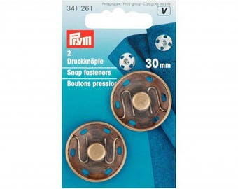 2 snap buttons to sew 30mm bronze PRYM