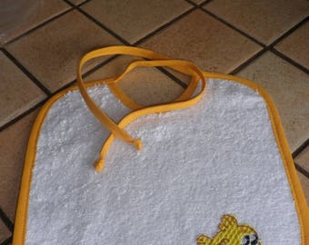 Fabric bib sponge yellow and white