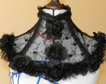 Gothic Victorian steampunk neck corset