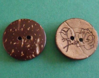 set of 2 buttons 23mm in diameter