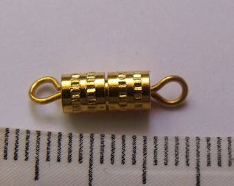 set of 10 clasps screw Gold 16mm