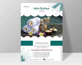 A5 flyer customizable according to the underdress - aesthetics, be natural