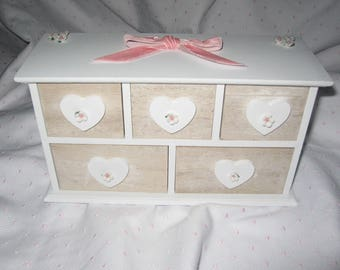 Free shipping! shabby style jewelry chest