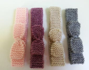 Wool 0-3 month headbands (set of 4)