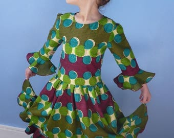 """African dancer"" dress, size 6"