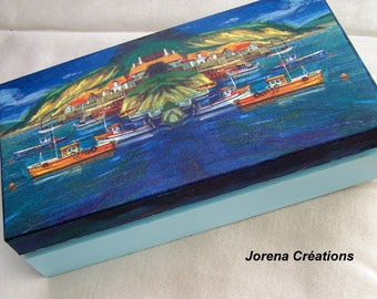"All wood decor ""Dream island"" box"