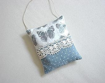 Door cushion, linen and cotton Lavender sachet