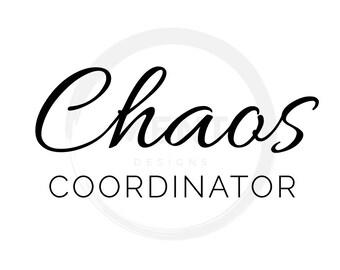 Chaos Coordinator SVG - SVG File - DXF File