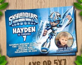 Skylanders Invitation, Skylanders Invite, Skylanders Party, Skylanders Birthday, Skylanders Chili Warrior, Skylanders Party,