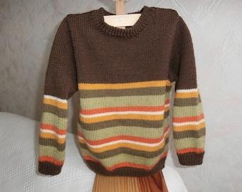 4t striped wool sweater
