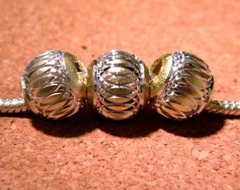 3 bead charm European-golden light - style 12 mm - 1 D103 pandor@-