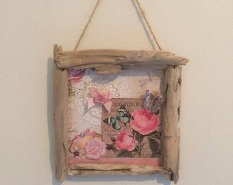 Small frame romantic wall Driftwood No. 2