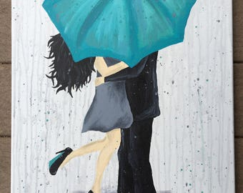 Kisses In The Rain painting