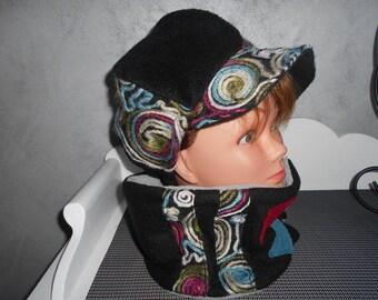 Hat and matching choker set