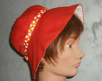 orange summer Cape shaped Hat