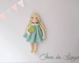 Cold porcelain doll Anastasia