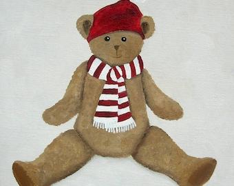 CANVAS Teddy bear children's bedroom - Ref. Red Hat