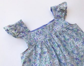 8/9 years - dress Fanny Claire Aude Liberty Lavender Butterfly