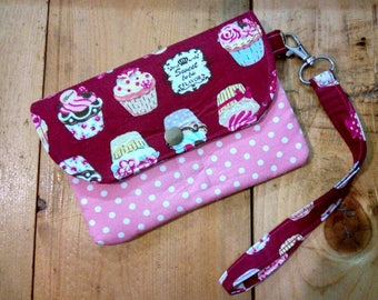 Red  Mini Wallet,Cup Cake  Mini Wristlet,Mini Clutch For Girl,Mini Wallet For Ladies,Free Shipping