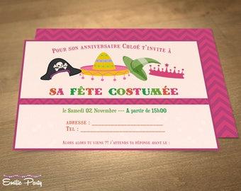 Personalized printable birthday invitation theme: party