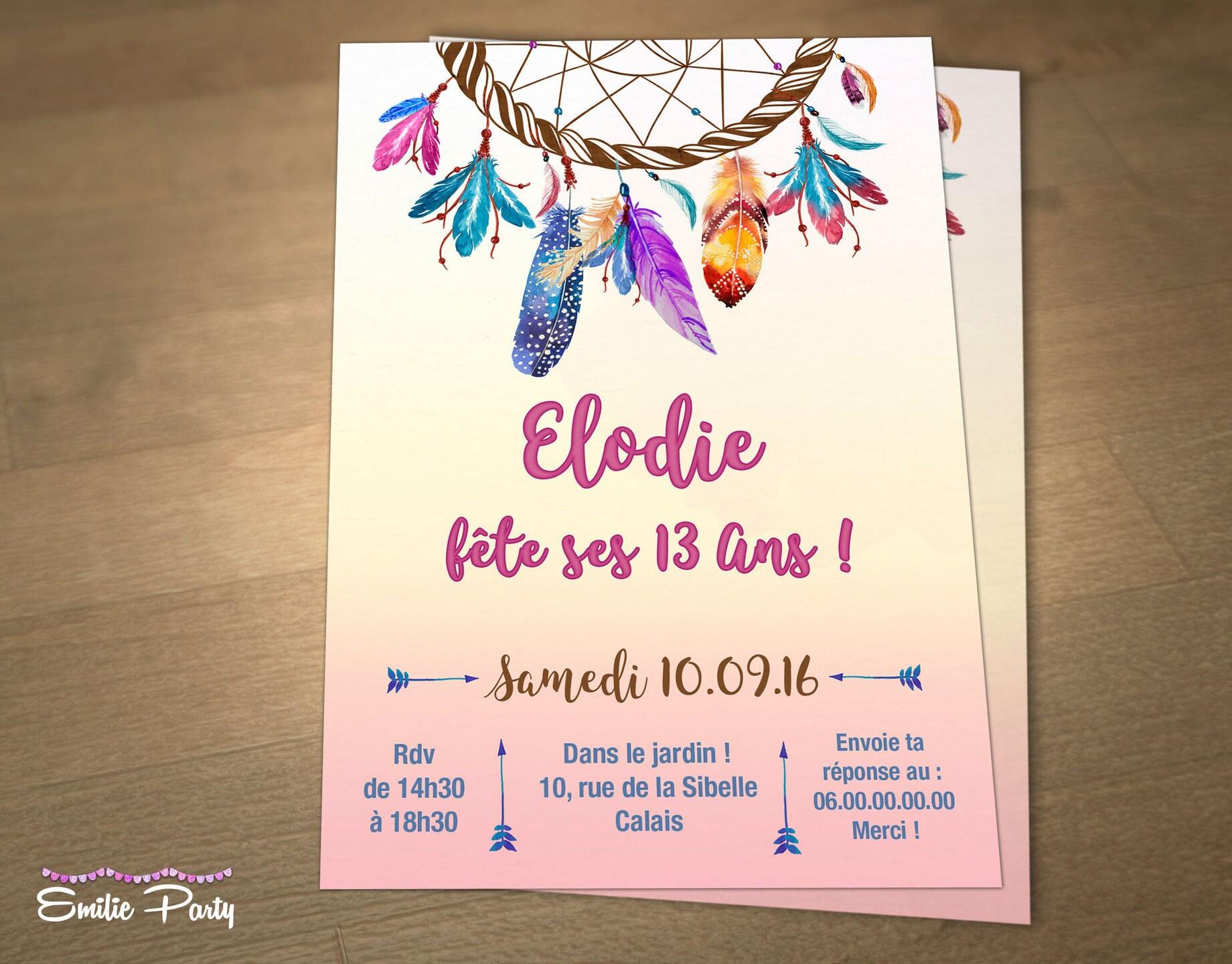 Invitation d'anniversaire personnalisable à imprimer sur