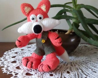 Hand crocheted Fox